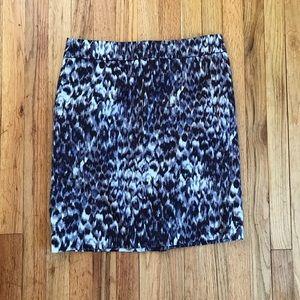 J.Crew stretch size 10 purple leopard skirt